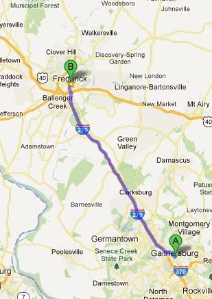Gaithersburg Map