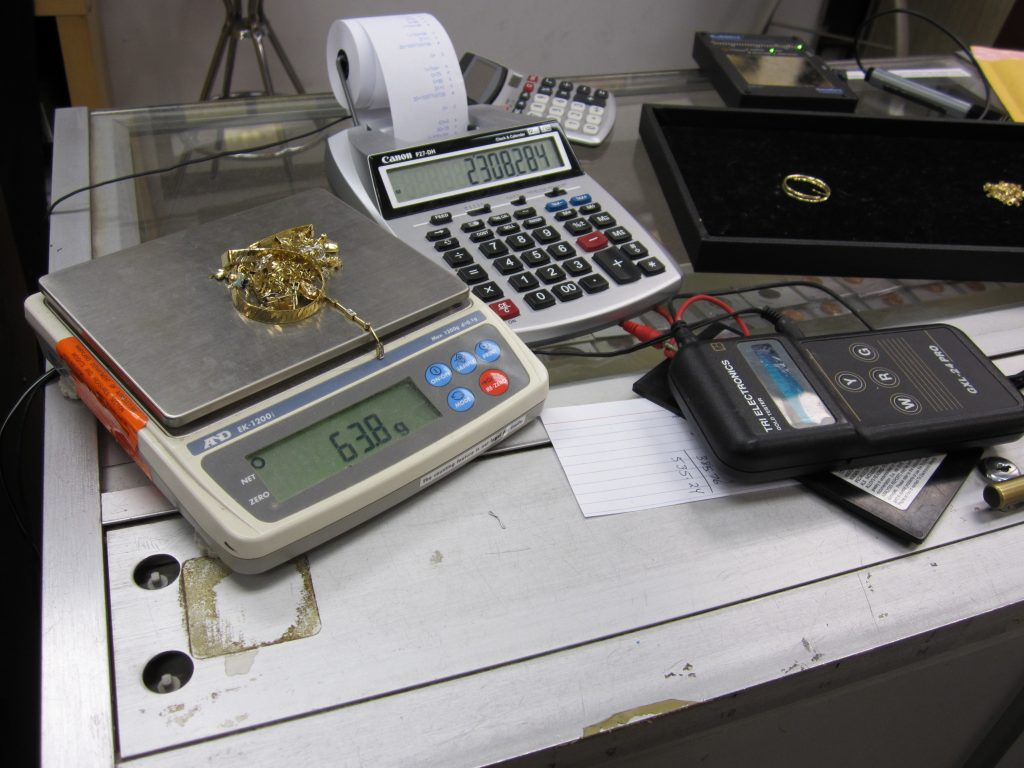 Calculating gold prices