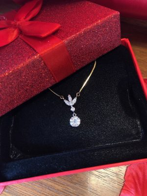 Valentines Gift Diamond Necklace